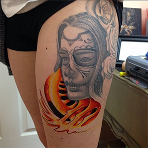 MJ Bonanno - Day of Dead Girl Tattoo
