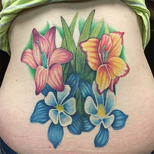 MJ Bonanno - Tattoo Cover Up Flowers Tattoo