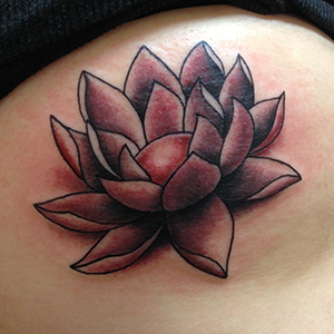 MJ Bonanno - Lotus Flower Tattoo